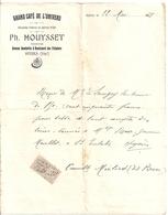 GRAND CAFE DE L'UNIVERS  -PH. MOUYSSET  PROP.  AVENUE GAMBETTA ET BD DES PALMIERS HYERES VAR  1908 - RECU - 1900 – 1949