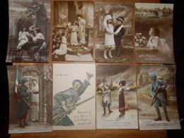 (43)   Lot De 8 Cartes Postales Patriotiques - Patriottisch