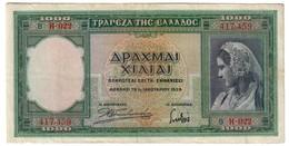 Greece 1000 Drachmai 1939 - Grecia