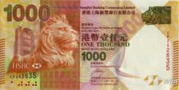 Hong Kong (HSBC) 1000 HK$ (P216b) 2012 -UNC- - Hong Kong