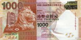 Hong Kong (HSBC) 1000 HK$ (P216e) 2016 -UNC- - Hong Kong