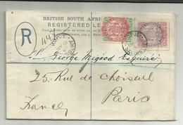 Lettre Recommandé Afrique Du Sud 1897 - Non Classés