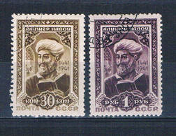 Russia 857-58 Used Set Alisher Navoi 1942 CV 50.00 (R0699) - Unclassified
