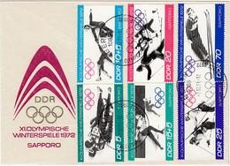 1972 SAPPORO - DDR - MiNr: 1725-1730 Komplett Auf ET Beleg - Winter 1972: Sapporo