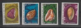 Afars Et Issas 1972 Série Coquillages 377-80 4 Val. ** MNH - Afars Et Issas (1967-1977)