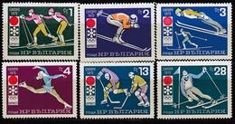 1972 SAPPORO - Bulgarien - MiNr: 2114-2119 Komplett ** / MNH - Winter 1972: Sapporo