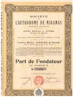 Ancien Titre - Société De L' Autodrome De Miramas - Société Anonyme - Titre De 1923 - Automobile