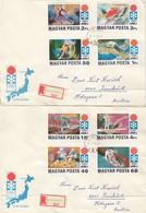 1972 SAPPORO - Ungarn - MiNr: 2720-2727 Komplett Auf 2 Rekobelegen - Winter 1972: Sapporo