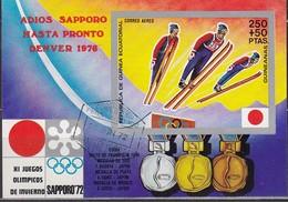 1972 SAPPORO - ÄquatGuinea - MiNr: A74 Block 12 - Winter 1972: Sapporo