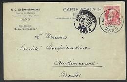 """1911 Gent Gand Perfin Perfo """" G.D.B. """" G C De Baerdenmaecker - Perfins"""