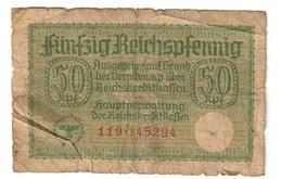 Germany 50 Reichspfennig German Occupation Of Europe - [ 4] 1933-1945 : Terzo  Reich