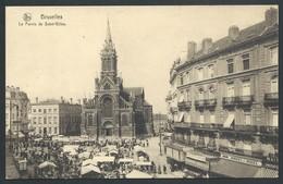 +++ CPA - BRUSSEL - BRUXELLES - Le Parvis De SAINT GILLES - Marché - Market    // - Markten