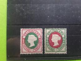 HELIGOLAND , 1875 , Victoria,  Yvert No 10 & 11, Neufs (*), TB Cote 30 Euros - Heligoland (1867-1890)