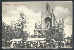 +++ CPA - BRUSSEL - BRUXELLES - Eglise Ste Catherine - Marché - Market    // - Markten