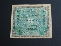 1/2 Mark Fünfzig Pfennig - Allied Occupation WWII - ALLEMAGNE - Série 1944 - 9 Lettres  **** EN ACHAT IMMEDIAT **** - 1945-1949: Alliierte Besatzung
