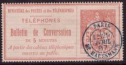 -Timbres-Téléphone  4 Obl - Télégraphes Et Téléphones
