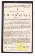 DP Nathalie De Buysscher / Baeyens ° Denderhoutem Haaltert 1847 † 1924 - Images Religieuses
