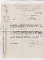 FACTURE STATION D ARBORICULTURE DE LA FLAMBELLE A TOULOUSE EN 1945! (avec Enveloppe Timbree) - 1900 – 1949
