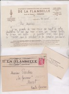 FACTURE STATION D ARBORICULTURE DE LA FLAMBELLE A TOULOUSE EN 1946! (avec Enveloppe Timbree) - 1900 – 1949