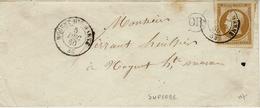 1860- Enveloppe  Affr.  10 C ( 4 Superbes Marges )oblit; Cad 115 De NOGENT-HAUTE MARNE - 1849-1876: Classic Period