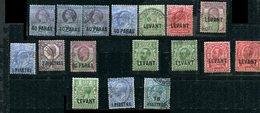 Levant Britannique Lot Ob , * - British Levant