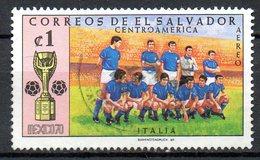SALVADOR. PA 260 Oblitéré De 1970. Equipe D'Italie. - 1970 – Mexico