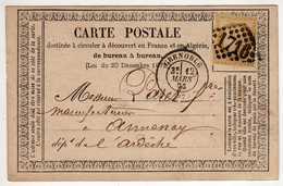 38 : Grenoble : Carte Précurseur : 1873 - Grenoble