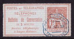 -Timbres-Téléphone 10 Obl - Télégraphes Et Téléphones