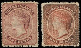 * TURKS ET CAIQUES - Poste - 4/4a, 1p. Rose Et 1 P. Vermillon Victoria - Turks & Caicos