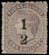 * TURKS ET CAIQUES - Poste - 9, 1/2 Sur 1s. Violet Victoria - Turks & Caicos