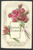 +++ CPA  - Carte Fantaisie - Fleur Flower - Rose - Embossed Relief Gaufrée    // - Fleurs