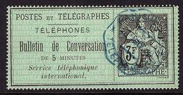 -Timbres-Téléphone 11 Obl - Télégraphes Et Téléphones