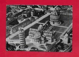 CARTOLINA VG ITALIA - PISA - Veduta Aerea Della Piazza Del Duomo - 10 X 15 - ANN. 1957 TASSA A DESTINATARIO - Pisa