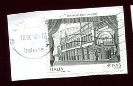 Italia Italy Italie Usat0 2018 - Teatro Eliseo - 6. 1946-.. Repubblica