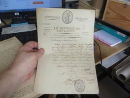 12 Eme REGIMENT DE CAVALERIE - Historical Documents