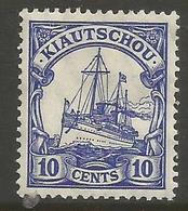 Kiauchau - 1906 Kaiser's Yacht 10c MH *    Sc 36 - Colony: Kiauchau