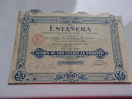 ESTANERA Internationale Miniere Et Industrielle - Shareholdings