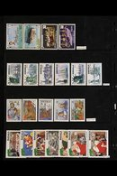 BRITISH WEST INDIES NEVER HINGED MINT COLLECTION. Late 1960's To 1990's All Different Stamps & Mini-sheets On Stock Page - Postzegels
