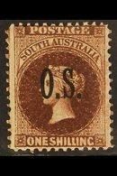 SOUTH AUSTRALIA OFFICIAL 1891-1902 1s Vandyke Brown, SG O31, Fine Mint. For More Images, Please Visit Http://www.sandafa - Australia