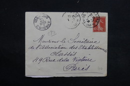 FRANCE - Enveloppe Du Havre Pour Paris En 1908 , Affranchissement Semeuse Chiffres Maigres - L 31248 - 1877-1920: Période Semi Moderne