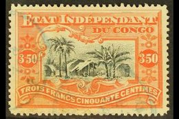 CONGO 1898 3f.50 Black And Vermilion, COB 27, Fine Cds Used. For More Images, Please Visit Http://www.sandafayre.com/ite - Unclassified