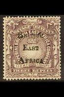 1895 3r Slate-purple, SG 45, Fine Mint. For More Images, Please Visit Http://www.sandafayre.com/itemdetails.aspx?s=64373 - Kenya, Uganda & Tanganyika