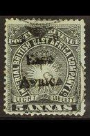 1895 5a Black On Grey-blue, SG 40, Very Fine Used. For More Images, Please Visit Http://www.sandafayre.com/itemdetails.a - Kenya, Uganda & Tanganyika