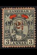 1897 Zanzibar Overprinted 2½ On 3a Grey And Red, SG 91, Fine Mint. For More Images, Please Visit Http://www.sandafayre.c - Kenya, Uganda & Tanganyika
