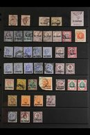 1875-1921 MINT AND USED RANGES ON STOCKLEAVES Interesting Accumulation - Note GB 2½d Rosy Mauve (plates 2 And 13) With C - Brits-Levant
