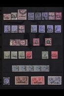 1885-1921 USED SELECTION. A Small Used Selection With QV To 12pi On 2s6d, KEVII To 5p On 1s & KGV To 180pi On 10s. Some  - Brits-Levant