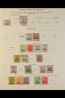 """1885-1935 ALL DIFFERENT MINT COLLECTION Presented On Printed """"New Ideal"""" Album Pages & Includes QV 40p On 2½d & 12pi On  - Brits-Levant"""