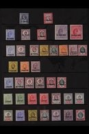 1887-1909 OLD TIME MINT COLLECTION A Most Useful QV & KEVII Assembly Presented On A Stock Page Inc 1887-96 40pa & 4pi, 1 - Brits-Levant