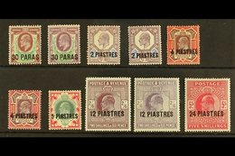 1911 - 1913 Ed VII Set 30pa To 24pi On 5s Incl Shades, SG 29/34 Incl 29a, 30a, 31b And 33a, Very Fine And Fresh Mint. (1 - Brits-Levant