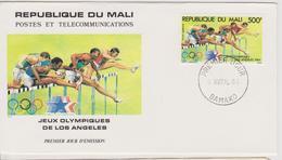 FDC MALI  JEUX OLYMPIQUES  DE LOS ANGELES 1984 ( ATHLETISME ) - Ete 1984: Los Angeles